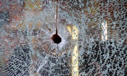 One of two bullets fired into a deli, striking a 28 year-old man in the chest.--Photo by David Greene