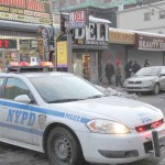 Police shutdown East 183 Street after two people were shot in a taxi and a third victim was shot inside a deli.--Photo by David Greene