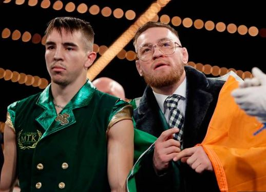 Michael Conlan enjoys dream debut win over Tim Ibarra as Conor McGregor steals headlines with 'I am boxing' diatribe. Credit: The Telegraph.uk