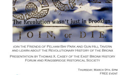 American Revolution & The Bronx: Friends of Pelham Bay Park Gun Hill Tavern lecture