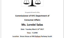Pelham Parkway Neighborhood Association Meeting – March 14th