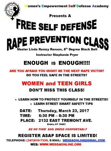 Self-Defense_Rape Prevention 2017