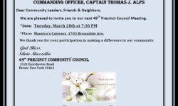 49th Precinct Community Council Meeting – March 28th