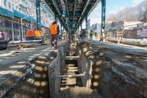 The NYC Department of Design and Construction is managing infrastructure      upgrades along Southern Blvd in the Bronx