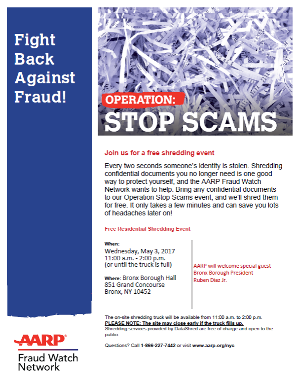 AARP Shred Event