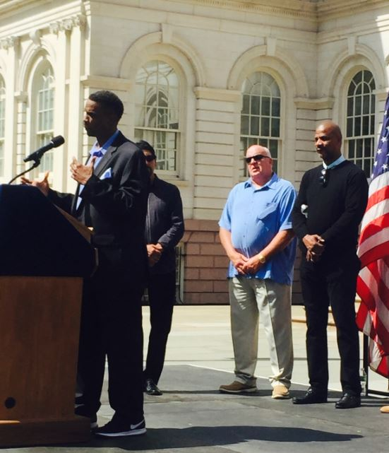 Doc Gooden Dahy at City Hall where he finally received the Key to the City 31 years later Credit: RAy Negron.