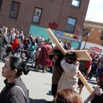 Several hundred turned out for the annual Good Friday procession along Bainbridge Avenue in Norwood