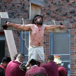 Parishioners in Norwood marked Good Friday, the most solemn day on the Christian calendar.--Photo by David Greene