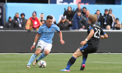 NYCFC beats San Jose, 2-1.  (Photo credit: Gary Quintal)