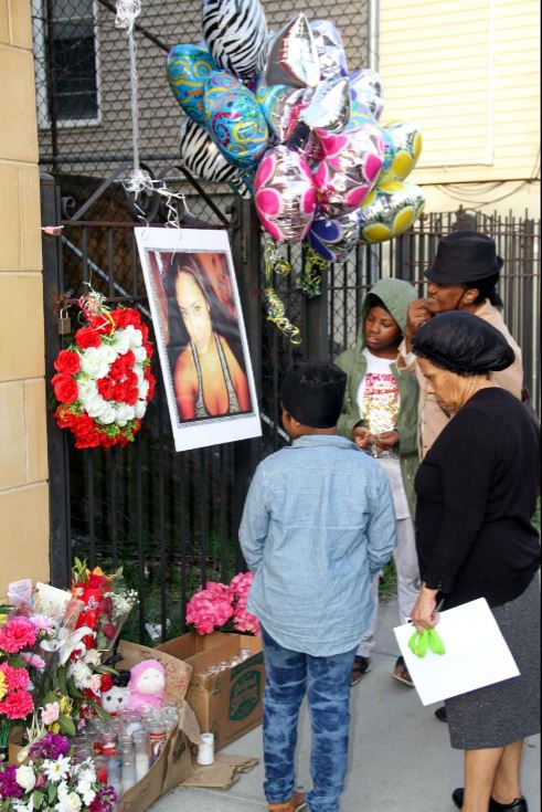 A memorial continues to grow for Margarita Franco, found murdered on April 2. Photo by David Greene