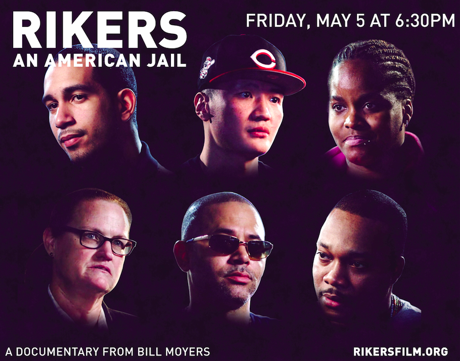FILM SCREENING | Rikers: An American Jail, Fri, May 5, 2017 at 6:30 PM., Tishman Auditorium, University Center at the New School, 63 Fifth Av, New York City.