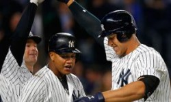 NY Yankee's rookie Aaron Judge's 13th HR a record for young sluggers. Credit: MLB.com