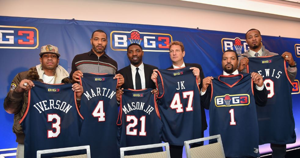 Ice Cube and Allen Iverson Launch BIG3 Basketball League.