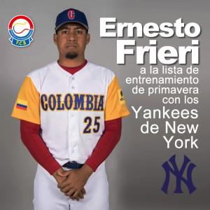 Ernesto Frieri, NY Yankees. Comité Olímpico Colombiano