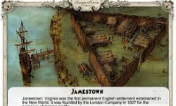 """The Jamestown settlement in the Colony of Virginia was the first permanent English settlement in the Americas. William Kelso writes that Jamestown """"is where the British Empire began."""" Wikipedia"""