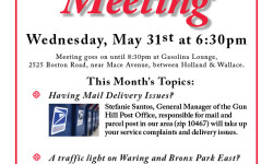 Bronx Park East Community Association Monthly Meeting – May 31st