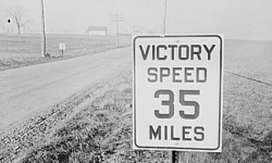 During WWII, there was a nation wide Victory Speed Limit of 35 mph. | Retronaut | Pinterest