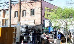 The Netflix crew spent 3 days shooting along Williamsbridge Road in Morris Park.--Photo by David Greene