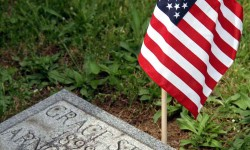 Annual Flagging of Graves Held at Woodlawn Cemetery