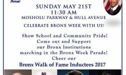 Bronx Week Parade & Festival – May 21st