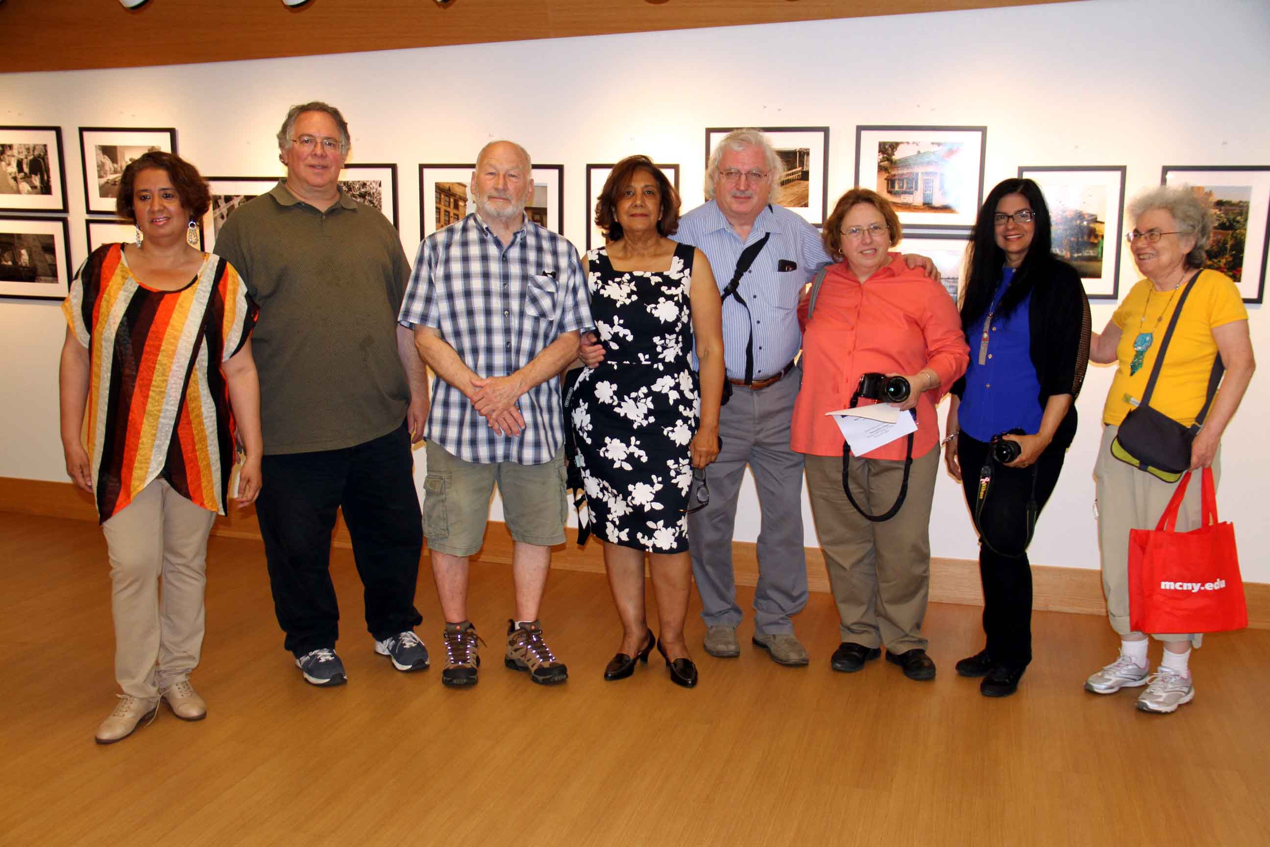 "Some of the ""Bronx Photographers"" featured in a new photography exhibit at Metropolitan College. Photo by David Greene"