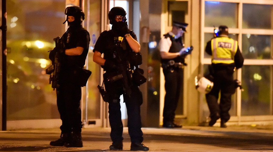 RT News reported that the attackers rammed pedestrians with a van on London Bridge before carrying out stabbings in Borough Market. Credit: © Hannah McKay / Reuters