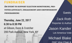 DNC Vice Chair Michael Blake will join former 2016 Senate Candidate Jason Kander and Author Zack Roth on June 22nd at NYDLC's annual Protect the Franchise Fundraiser