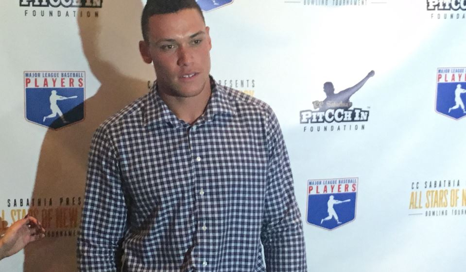 Aaron Judge - 2017 PitCCh In Foundation Charity Bowling Tournament. Photo Credit: Brandon Colon