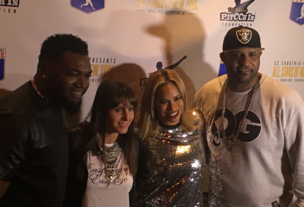 David Ortiz joins Amber and C.C. Sabathia at the 2017 PitCCh In Foundation Charity Bowling Tournament. Photo Credit: Brandon Colon