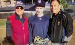 Reggie Jackson, Ricky Negron and Roberto Alomar