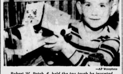 Robert W. Patch's design for his toy truck.