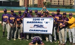 "2016-17 Baseball ""A"" PSAL Champions. Credit: South Bronx Campus"