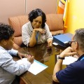 HPD Representatives Meeting with Community Member in the 27th City Council District Office in Queens (Photo Credit: NYC HPD/Jonathan Patkowski)