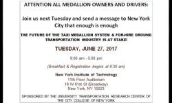 Taxi symposium sponsored by NYIT, June 27