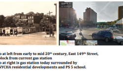 Since 1950 a Polluting Gas Station in Heart of South Bronx Residential Neighborhood allowed to operate across the street from NYCHA and a Public School