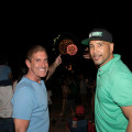"""Bronx Borough President Ruben Diaz Jr. and State Senator Jeff Klein enjoy the show during the annual the annual """"New York Salutes America"""" boardwalk festival and fireworks extravaganza at Orchard Beach on Thursday, June 29, 2017. Photo by Robert Benimoff."""