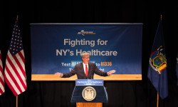 New York City Mayor Bill de Blasio joins Governor Cuomo, Speaker Heastie, AG Schneiderman in a rally against the ACA repeal in Manhattan on Monday July 17th, 2017. Edwin J. Torres /Mayoral Photography Office.