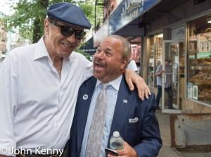 Bo Dietl and Chazz Palminteri hit Arthur Avenue last Thursday. Photo credit: John Kenny