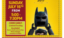 "Applebee's presents Dinner and a Movie: ""Lego Batman Movie"" | Sunday | July 16, 2017 | 5:00-7:30pm"