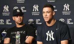 AL All-Stars NY Yankees Gary Sanchez (left) and Aaron Judge (right). Photo Credit:  Cesar Diaz/Latinosports.com