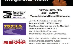 The Vigil will beThursday, July 6thfrom3:00pm to 9:00PMon the Grand ConcourseandMount Eden.