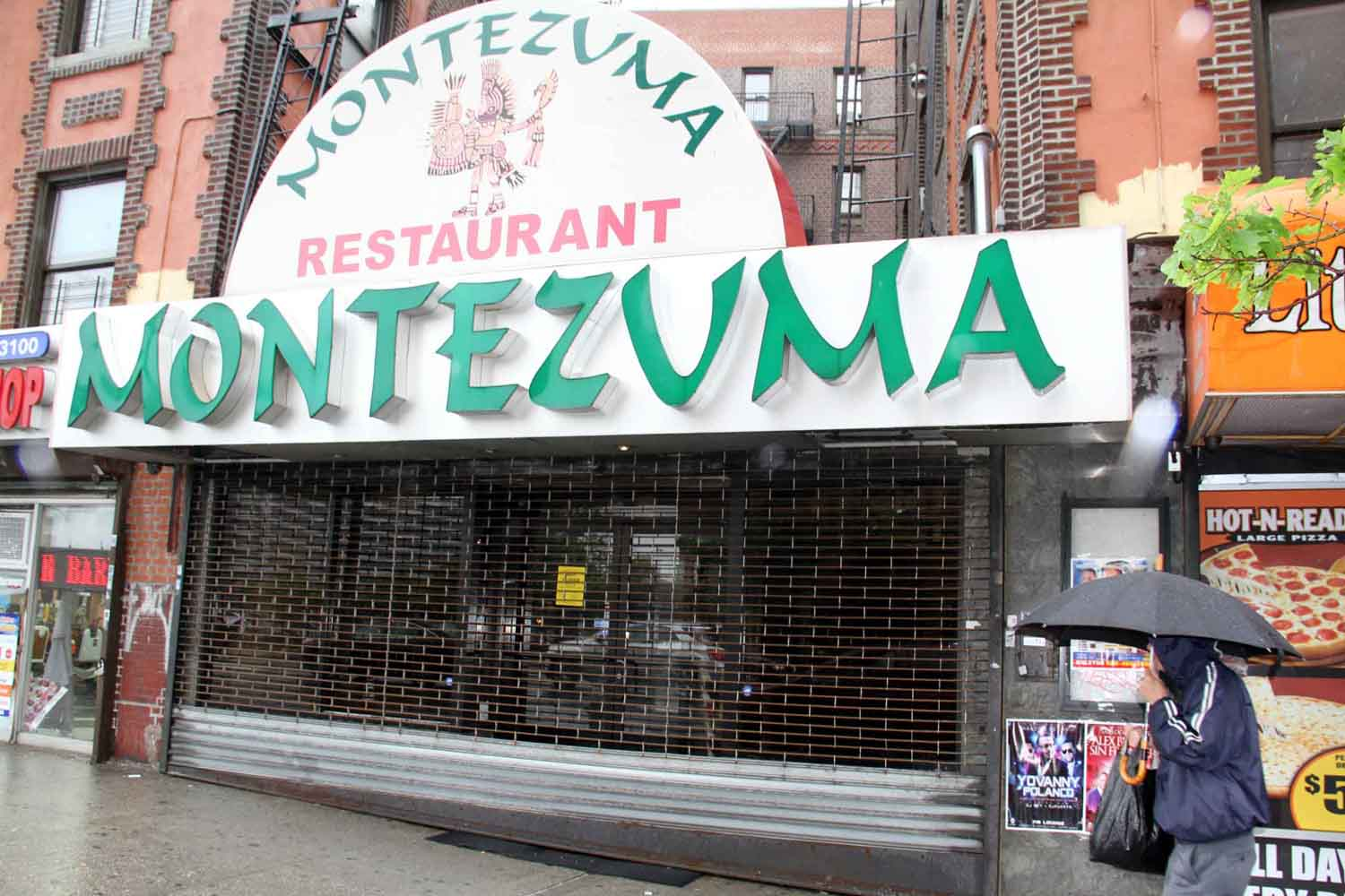 The popular Montezuma Restaurant on W. Kingsbridge Road was shutdown after failing a health inspection.--Photo by David Greene