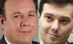 AM Mark Gjonaj (l); Martin Shkreli (r).