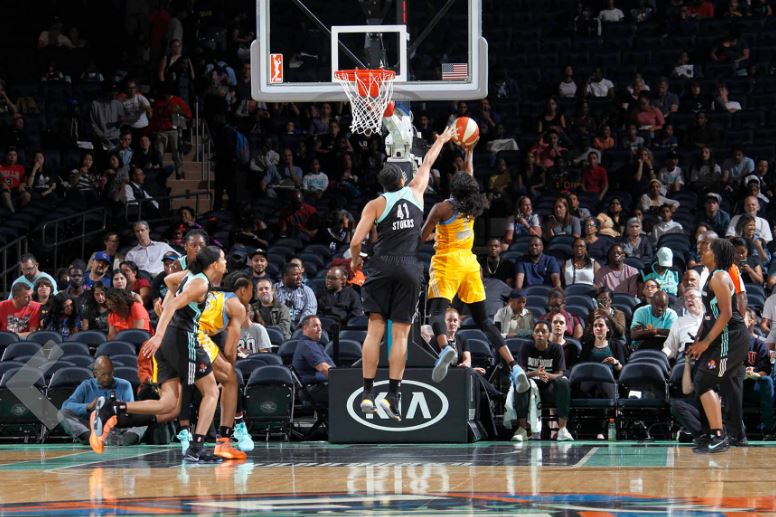 Kiah Stokes Blocks A Shot -- @NYLiberty