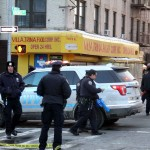The NYPD mobile command center had been posted at the corner of East 183 Street and Morris Avenue after three people were shot on March 16.--Photo by David Greene