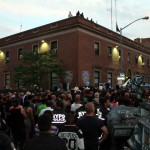 Hundreds of Bronxites jam Ryer Avenue in solidarity with fallen police officer Miosotis Familia.--Photo by David Greene