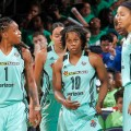 NY Liberty defeat Connecticut Sun,  96-80, on Camp Day in front of 17,443 at MSG.