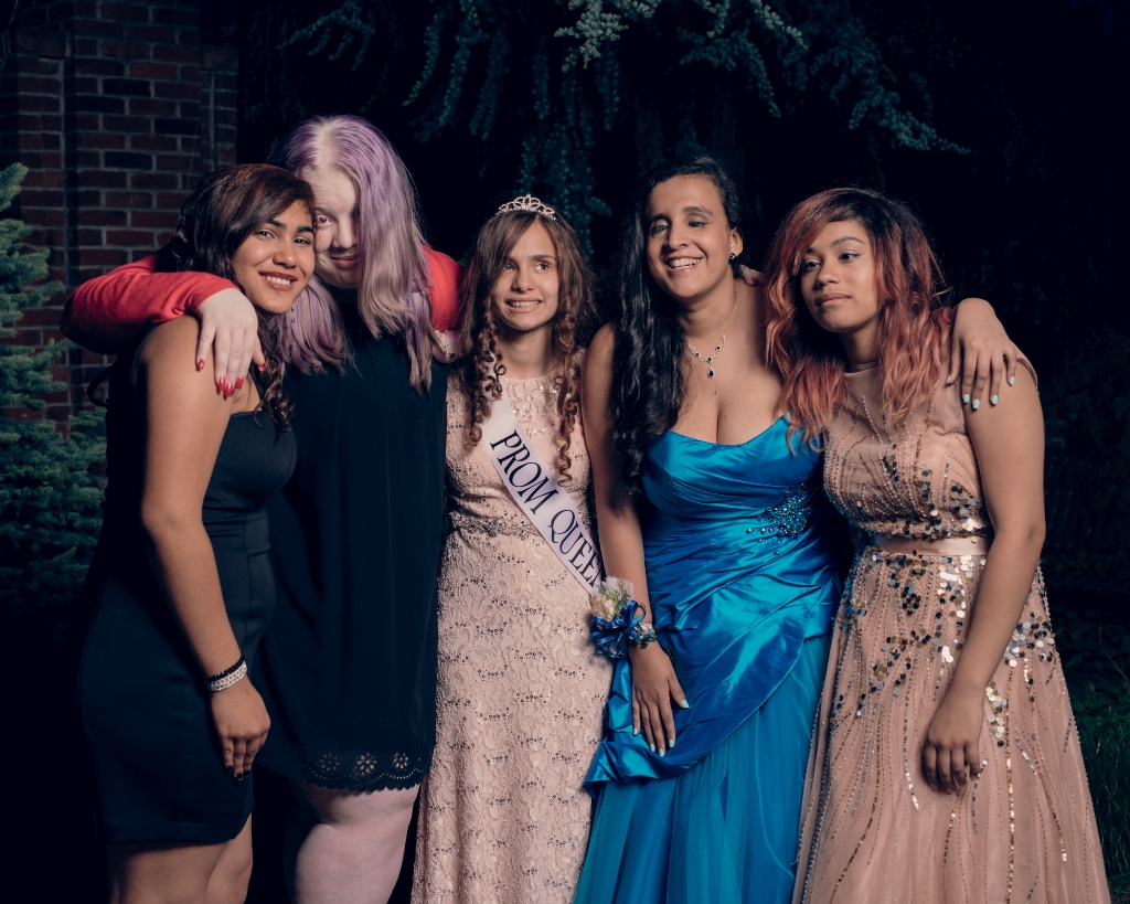 Elegantly dressed students from the New York Institute for Special Education during the school's prom on June 1 at the Bronx landmark Frankie & Johnnie's Pines restaurant. (Photo Credit: Vincent Tullo)