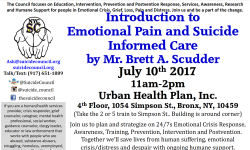 Introduction to Emotional Pain and Suicide Informed Care Workshop – July 10th