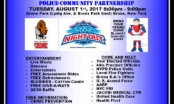 "49th Precinct ""34th Annual National Night Out Against Crime"" – August 1st"